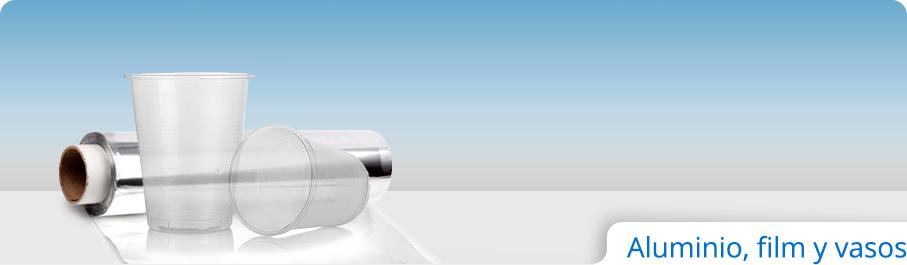 Aluminio, film y vasos
