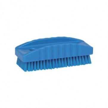 Cepillo lavado de manos y uñas alimentaria.Azul