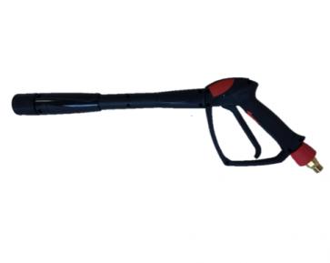 Pistola lanza hidrolimpiadora con enlace giratorio