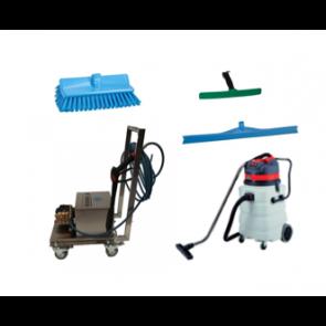 Equipo limpieza con espuma aclarado y secado de superficies