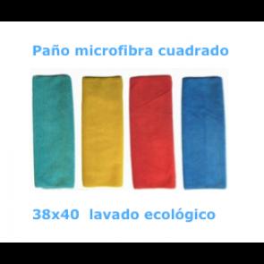 Paño microfibra lavado ecológico. pack 10 u.