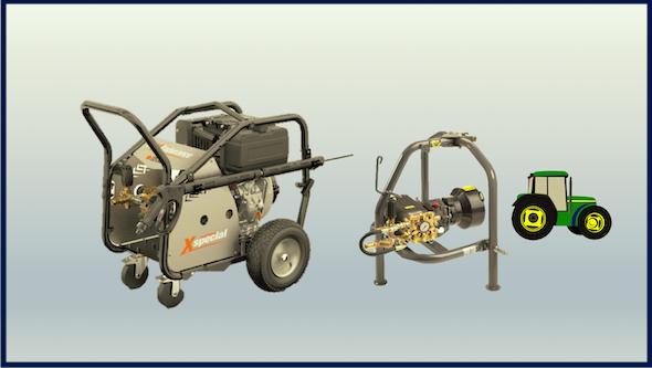 Hidrolimpiadoras autónomas y bombas para toma de fuerza de tractor