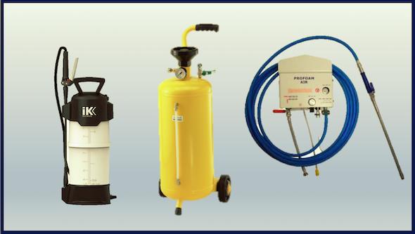 Generadores de espuma por aire comprimido