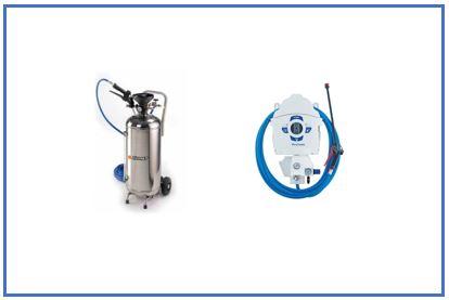 pulverización y espuma