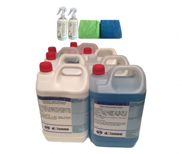 Kit productos lavado exterior e interior de coches