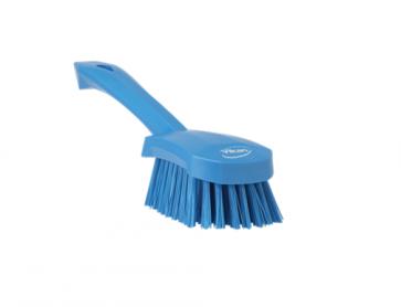 Cepillo mango corto fibra media alimentaria, Azul