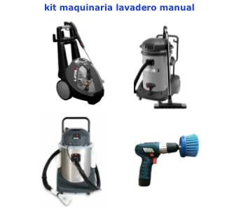 Kit maquinaria para lavadero manual