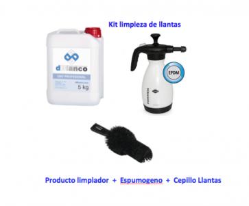 kit limpieza de llantas con espuma