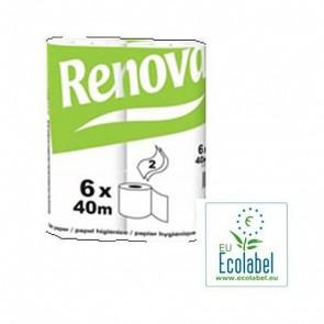 Papel higiénico ecológico para colectividades pack 14x6 unidades