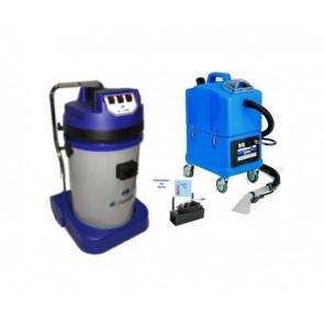 Limpiatapicerias agua caliente con aspirador de polvo liquidos