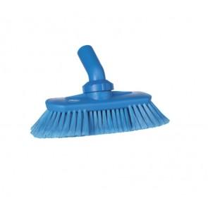 Cepillo limpieza de tanques con paso de agua y fibra azul