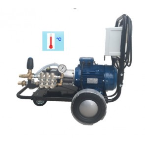 Hidrolimpiadora alta presión preparada para alimentación con agua caliente