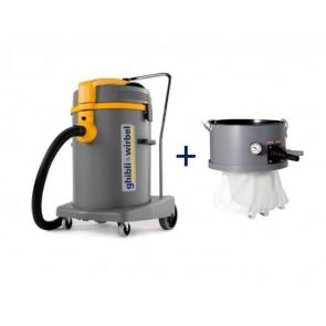 Aspirador en seco y húmedo alto rendimiento con sacudidor vibrador