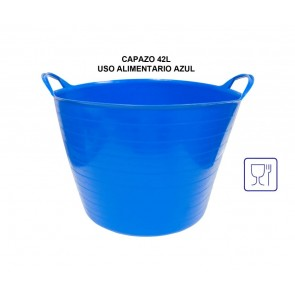 Capazo para uso alimentario de 42 litros en Azul