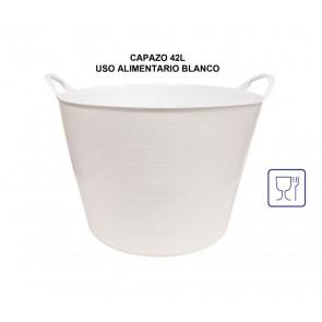 Capazo para uso alimentario de 42 litros en blanco