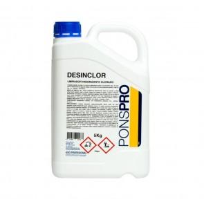 Limpiador higienizante clorado