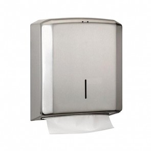 Dispensador de toalla plegada acero inox