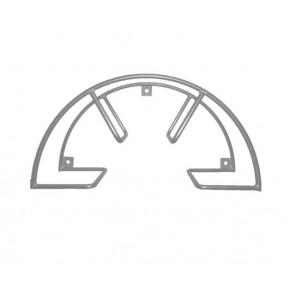 Soporte inox enrollador de manguera de pared