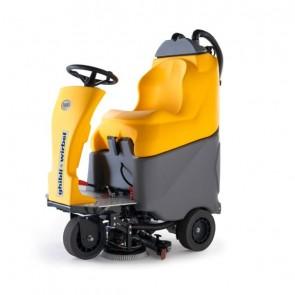 Fregadora secadora de suelos con conductor sentado