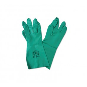 Guante de nitrilo para uso en industria alimentaria y limpieza industrial