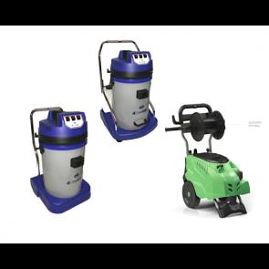 Kit maquinaria monofásica profesional para lavadero manual