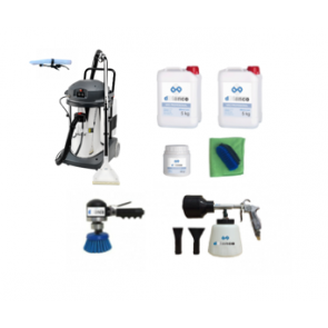 Kit lavatapicerias de coches con productos y utiles