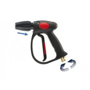 Pistola hidrolimpiadora con giratorio y enchufe rápido para accesorios