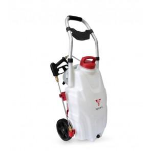 Pulverizadora con ruedas autónoma para desinfección y limpieza