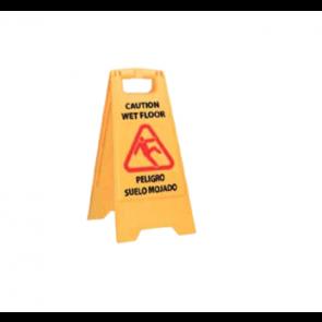 Señal de aviso de suelo mojado multilingüe