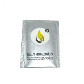 Toallita gel hidroalcohólico higienizante de la piel y de superficies