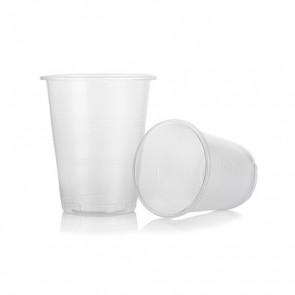 Vaso plastico transparente un solo uso 200 cc